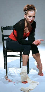 full length portrait with chair